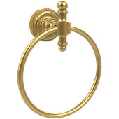 Retro-Dot Collection Towel Ring, Standard Finish, Polished Brass