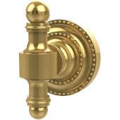 Retro-Dot Collection Utility Hook, Standard Finish, Polished Brass