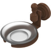 Retro-Dot Collection Soap Dish with Glass Holder, Premium Finish, Rustic Bronze