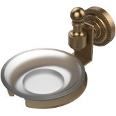 Retro-Dot Collection Soap Dish with Glass Holder, Premium Finish, Brushed Bronze