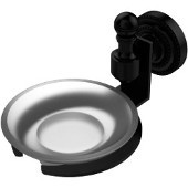 Retro-Dot Collection Wall Mounted Soap Dish, Matte Black
