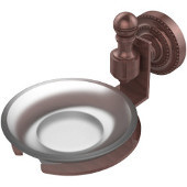 Retro-Dot Collection Soap Dish with Glass Holder, Premium Finish, Antique Copper
