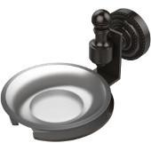 Retro-Dot Collection Soap Dish with Glass Holder, Premium Finish, Oil Rubbed Bronze