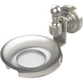 Retro-Dot Collection Soap Dish with Glass Holder, Premium Finish, Polished Nickel
