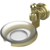 Retro-Dot Collection Soap Dish with Glass Holder, Premium Finish, Satin Brass