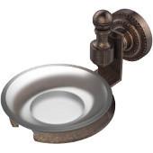 Retro-Dot Collection Soap Dish with Glass Holder, Premium Finish, Venetian Bronze