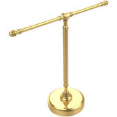 Retro-Dot Collection Guest Towel Holder with Two Arms, Standard Finish, Polished Brass