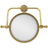 Retro-Dot 8'' Swivel Mirror, 2x Magnification, Standard, Polished Brass