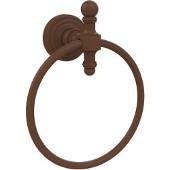 Retro-Wave Collection Towel Ring, Premium Finish, Rustic Bronze