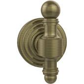 Retro-Wave Collection Utility Hook, Premium Finish, Antique Brass