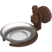 Retro-Wave Collection Soap Dish w/Glass Liner, Premium Finish, Rustic Bronze