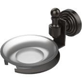 Retro-Wave Collection Soap Dish w/Glass Liner, Premium Finish, Oil Rubbed Bronze