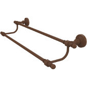 Retro-Wave Collection 24'' Double Towel Bar, Premium Finish, Rustic Bronze