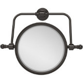 Retro Wave Collection Wall Mounted Swivel Make-Up Mirror 8 Inch Diameter with 3X Magnification, Oil Rubbed Bronze