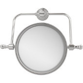 Retro Wave Collection Wall Mounted Swivel Make-Up Mirror 8 Inch Diameter with 3X Magnification, Polished Chrome