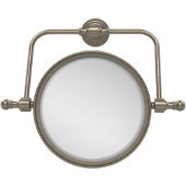 Retro Wave Collection Wall Mounted Swivel Make-Up Mirror 8 Inch Diameter with 3X Magnification, Antique Pewter
