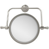 Retro Wave Collection Wall Mounted Swivel Make-Up Mirror 8 Inch Diameter with 3X Magnification, Polished Nickel