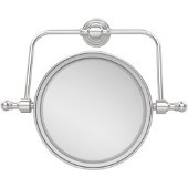 Retro Wave Collection Wall Mounted Swivel Make-Up Mirror 8 Inch Diameter with 3X Magnification, Satin Chrome