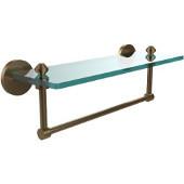 Southbeach Collection 16'' Glass Shelf w/Towel Bar, Premium Finish, Brushed Bronze