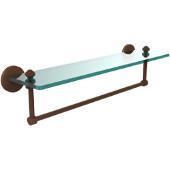 Southbeach Collection 22'' Glass Shelf w/Towel Bar, Premium Finish, Rustic Bronze