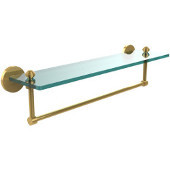 Southbeach Collection 22'' Glass Shelf w/Towel Bar, Standard Finish, Polished Brass