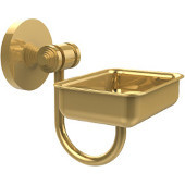 South Beach Collection Wall Mounted Soap Dish, Unlacquered Brass
