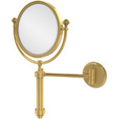 Southbeach 8'' Wall Mirror, 2x Magnification, Standard, Polished Brass