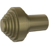 SB-9 Series Southbeach Collection 1'' Diameter Round Cabinet Knob with Grooved Top in Antique Brass (Premium Finish), Available in Multiple Finishes