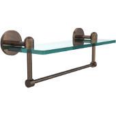 Tango Collection 16'' Glass Shelf w/Towel Bar, Premium Finish, Venetian Bronze