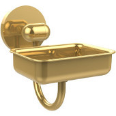 Tango Collection Wall Mounted Soap Dish, Unlacquered Brass