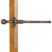 Traditional Retractable Pullout Garment Rod, Venetian Bronze