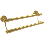 Tribeca Collection 24'' Double Towel Bar, Standard Finish, Polished Brass