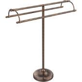 Free Standing Double Arm Towel Holder, Venetian Bronze