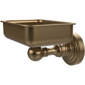 Waverly Place Collection Soap Dish with Glass Liner, Premium Finish, Brushed Bronze