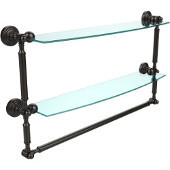 Waverly Place Collection 24'' Double Shelf with Towel Bar, Premium Finish, Oil Rubbed Bronze