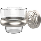 Waverly Place Collection Wall Mounted Votive Candle Holder, Premium Finish, Satin Nickel