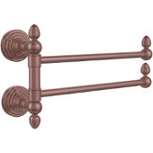 Waverly Place Collection 2 Swing Arm Towel Rail, Antique Copper