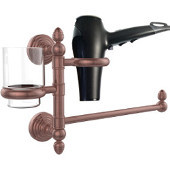 Waverly Place Collection Hair Dryer Holder and Organizer, Antique Copper