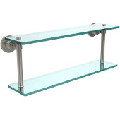 Washington Square Collection 22'' Double Glass Shelf, Premium Finish, Polished Nickel