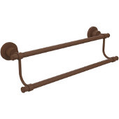 Washington Square Collection 24'' Double Towel Bar, Premium Finish, Rustic Bronze