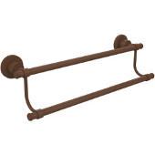 Washington Square Collection 30'' Double Towel Bar, Premium Finish, Rustic Bronze