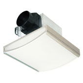 70 CFM Nickel Decorative Exhaust Fan with 2-60W Incandescent Lights, Available in White