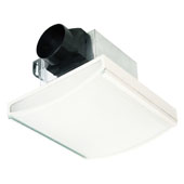 70 CFM White Decorative Exhaust Fan with 2-60W Incandescent Lights