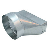 Range Hood Ducting Accessory, 7'' to 3-1/4'' x 10'' Transitional Duct