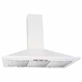 36'' W Valencia Wall Chimney Range Hood, 500 CFM, White