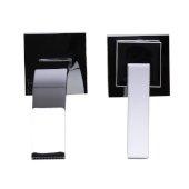 Polished Chrome Single Lever Wall Mount Bathroom Faucet, Spout Reach: 6-1/4'' D