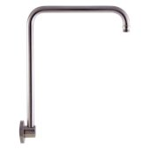 Brushed Nickel 12'' Round Raised Wall Mounted Shower Arm, 12'' W x 15-3/4'' D x 2-3/8'' H