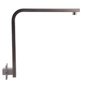 Brushed Nickel 12'' Square Raised Wall Mounted Shower Arm, 13'' W x 11-5/16'' D x 2-3/8'' H