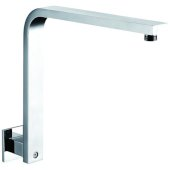 Polished Chrome 12'' Square Raised Wall Mounted Shower Arm, 13'' W x 11-5/16'' D x 2-3/8'' H