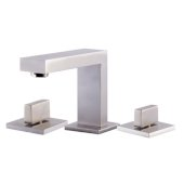 Brushed Nickel Modern Widespread Bathroom Faucet, Height: 3-5/8'' H, Spout Height: 3-9/16'' H, Spout Reach: 4-15/16'' D